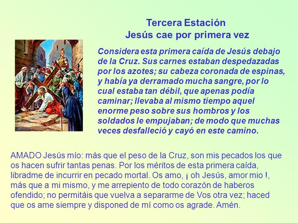 Cuarta Estación Jesús encuentra a su afligida madre Considera el encuentro del Hijo con su Madre en este camino.