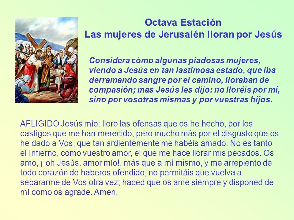 Novena Estación Jesús cae por tercera vez Considera la tercera caída de Jesucristo.