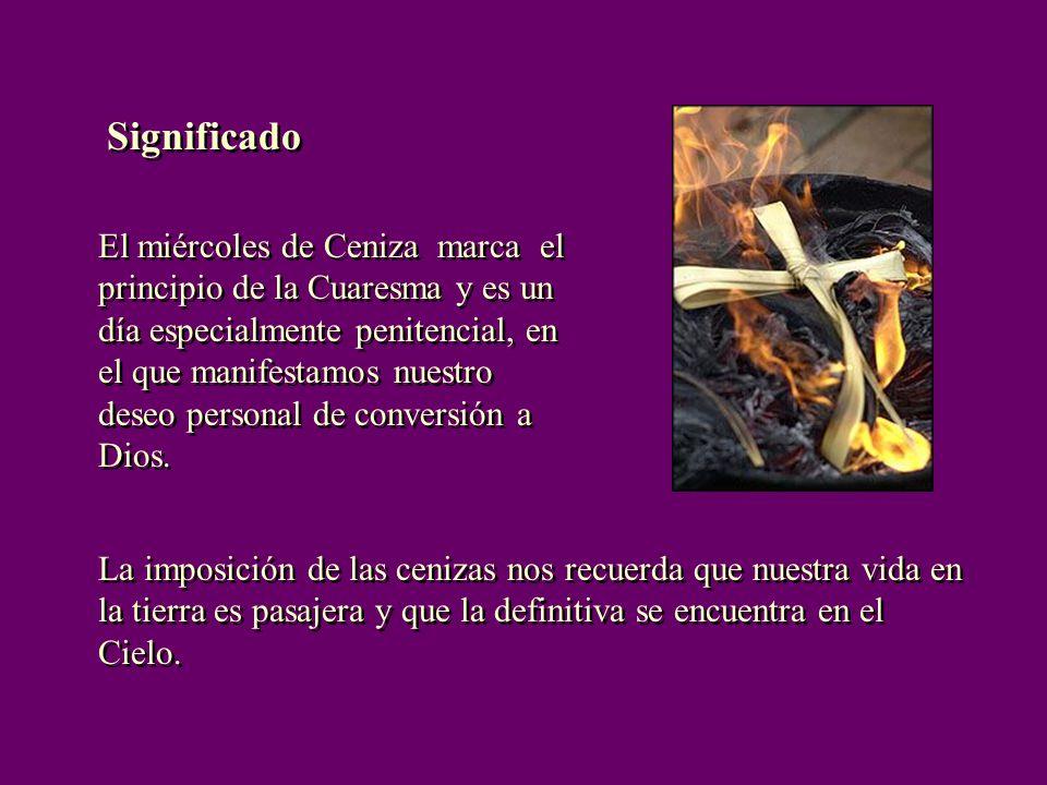 El miércoles de Ceniza marca el principio de la Cuaresma y es un día especialmente penitencial, en el que manifestamos nuestro deseo personal de conversión a Dios.