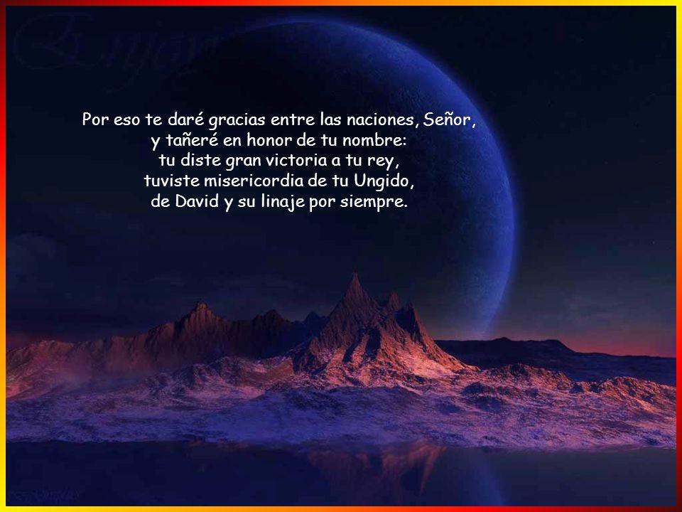 Viva el Señor, bendita sea mi Roca, sea ensalzado mi Dios y Salvador: el Dios que me dió el desquite y me sometió los pueblos; que me libró de mis ene