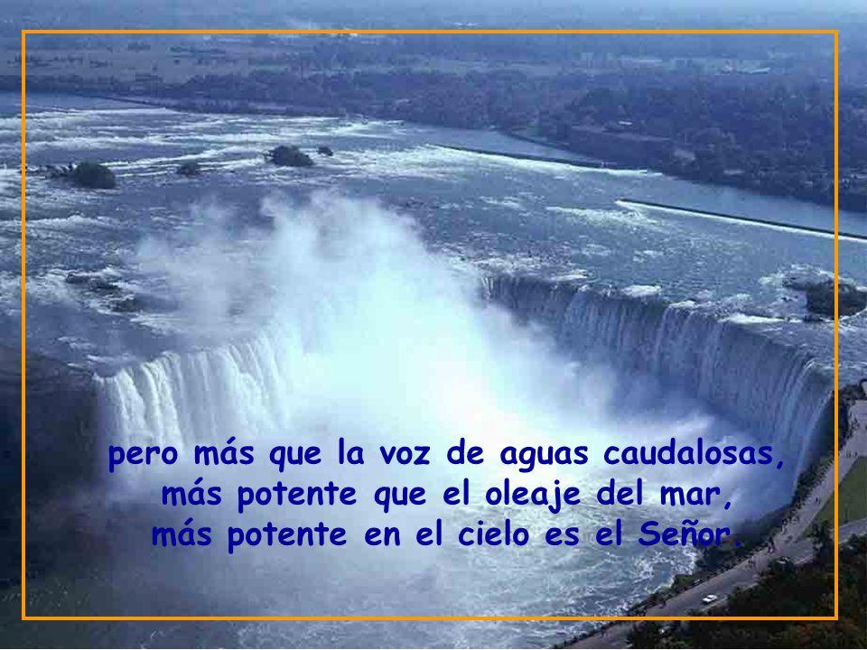 pero más que la voz de aguas caudalosas, más potente que el oleaje del mar, más potente en el cielo es el Señor.