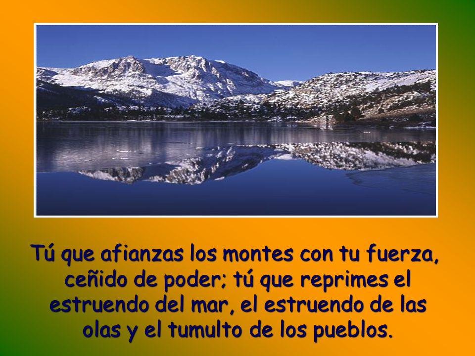 Con portentos de justicia nos respondes, Dios, salvador nuestro; tú, esperanza del confín de la tierra y del océano remoto;