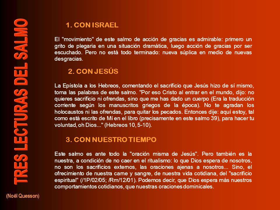 3.CON NUESTRO TIEMPO 2. CON JESÚS 1.