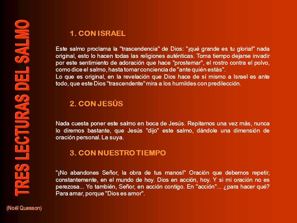 1.CON ISRAEL 2. CON JESÚS 3.