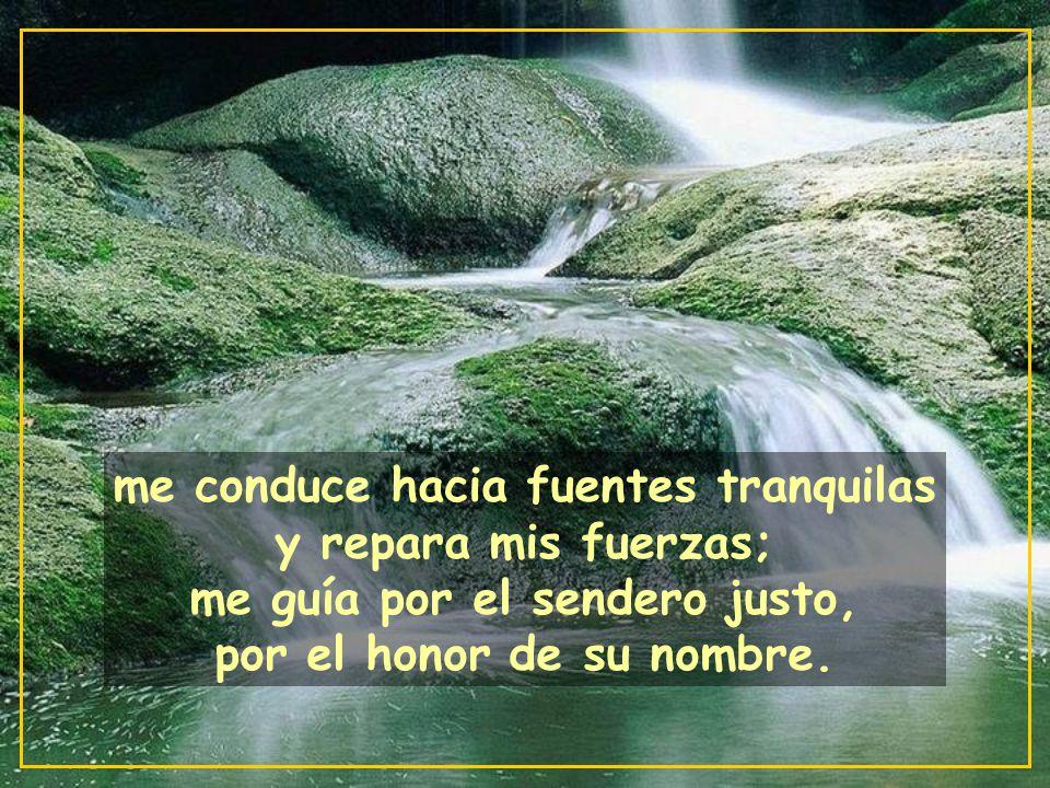 El Señor es mi Pastor, nada me falta: en verdes praderas me hace recostar;