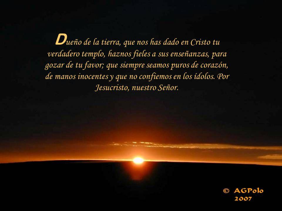 «Del Señor es la tierra y cuanto la llena, el orbe y todos sus habitantes. ¿Quién puede subir al monte del Señor? ¿Quién puede estar en el recinto sac