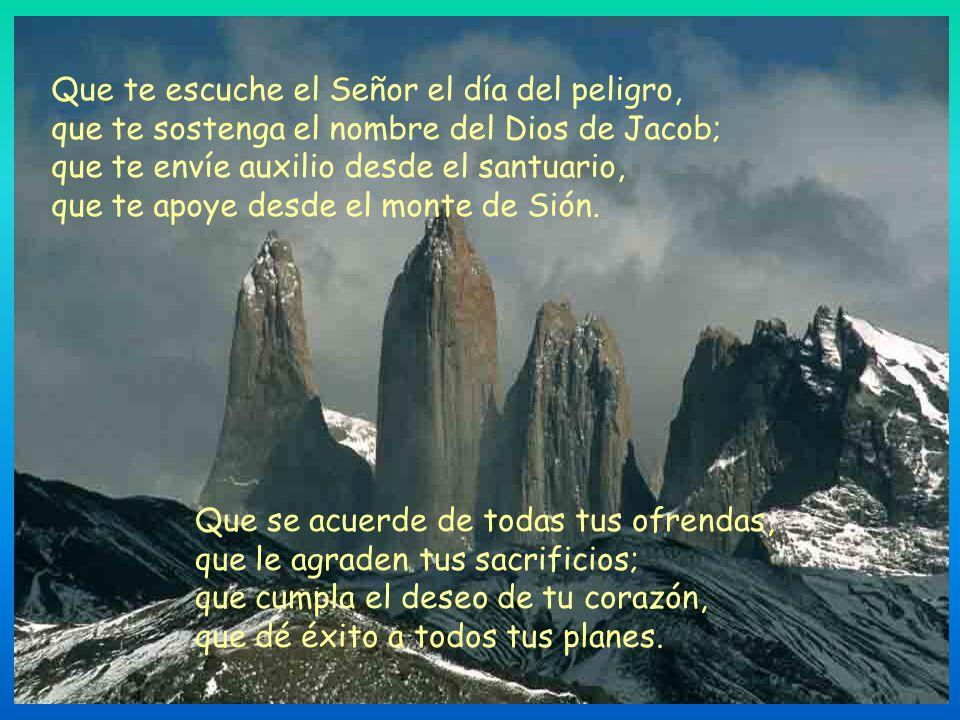 La invocación final: «Señor, da la victoria al Rey y escúchanos cuando te invocamos» (Salmo 19,10), nos revela el origen del Salmo 19. Nos encontramos