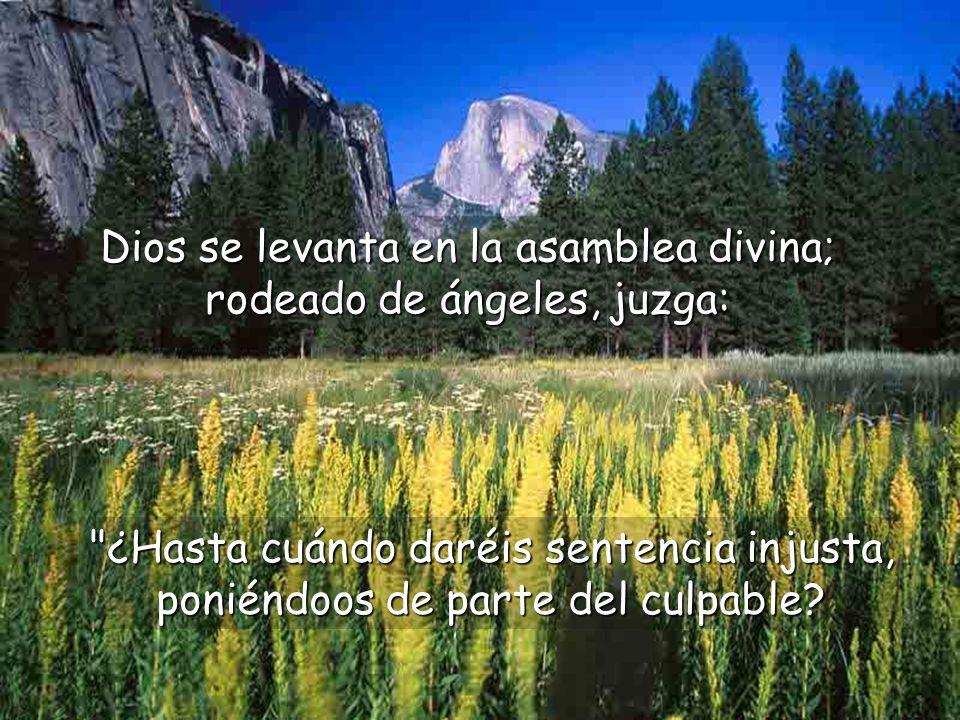Este salmo es una imprecación hacia aquellos que tienen la misión de impartir justicia entre los hombres.