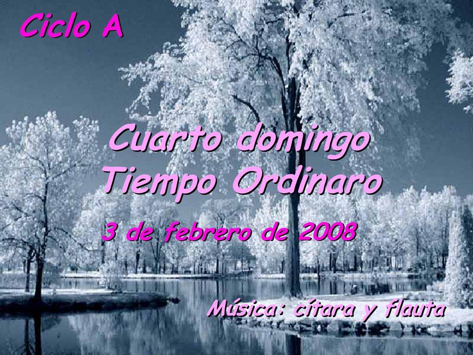 Ciclo A Cuarto domingo Tiempo Ordinaro 3 de febrero de 2008 Música: cítara y flauta