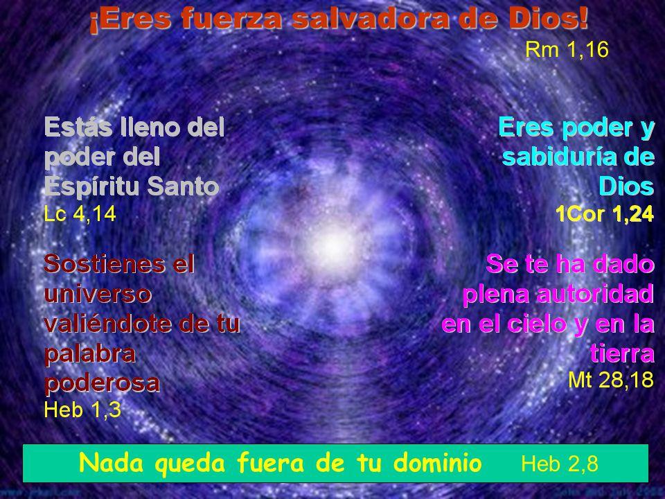 ¡Eres fuerza salvadora de Dios! Rm 1,16 Nada queda fuera de tu dominio Heb 2,8