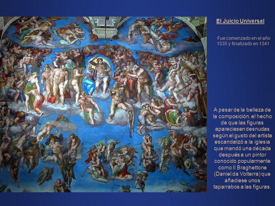 Vista generalBóveda: Miguel Angel Frontal: Juicio Universal - Miguel Angel Frescos laterales: Por la magnitud de esta obra nos vamos a limitar a una d