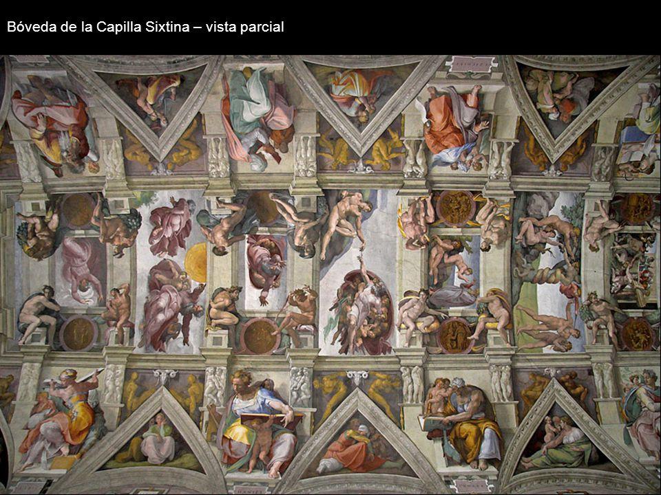 El Juicio Universal Fue comenzado en el año 1535 y finalizado en 1541. A pesar de la belleza de la composición, el hecho de que las figuras apareciese