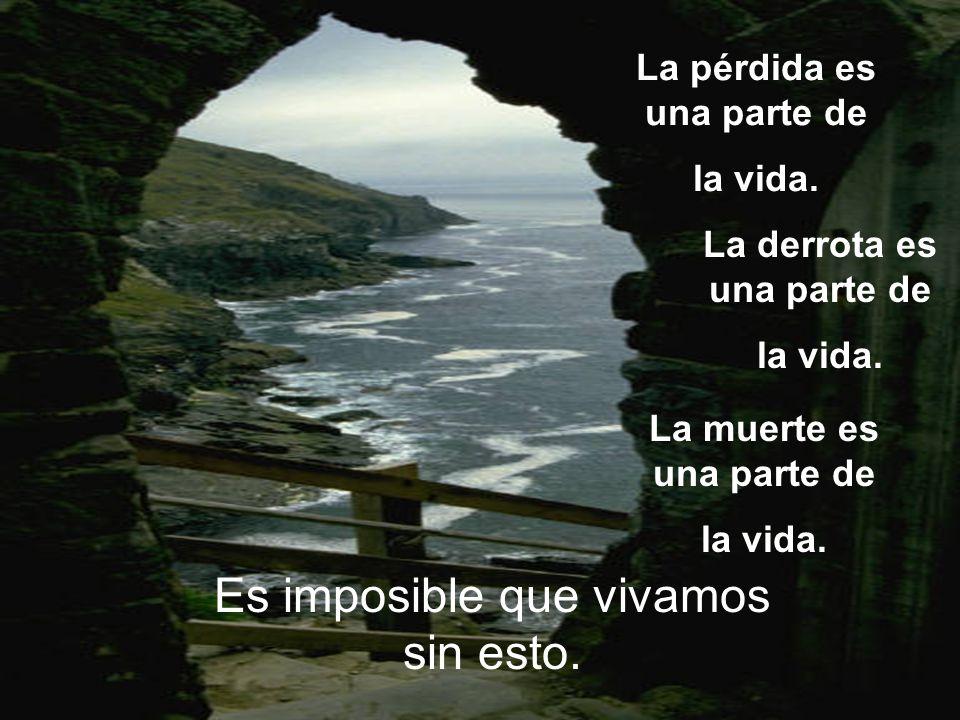 La pérdida es una parte de la vida. Es imposible que vivamos sin esto. La derrota es una parte de la vida. La muerte es una parte de la vida.
