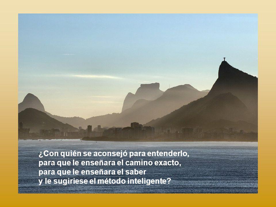 ¿Quién ha pesado en la balanza los montes y en la báscula las colinas? ¿Quién ha medido el aliento del Señor? ¿Quién le ha sugerido su proyecto?