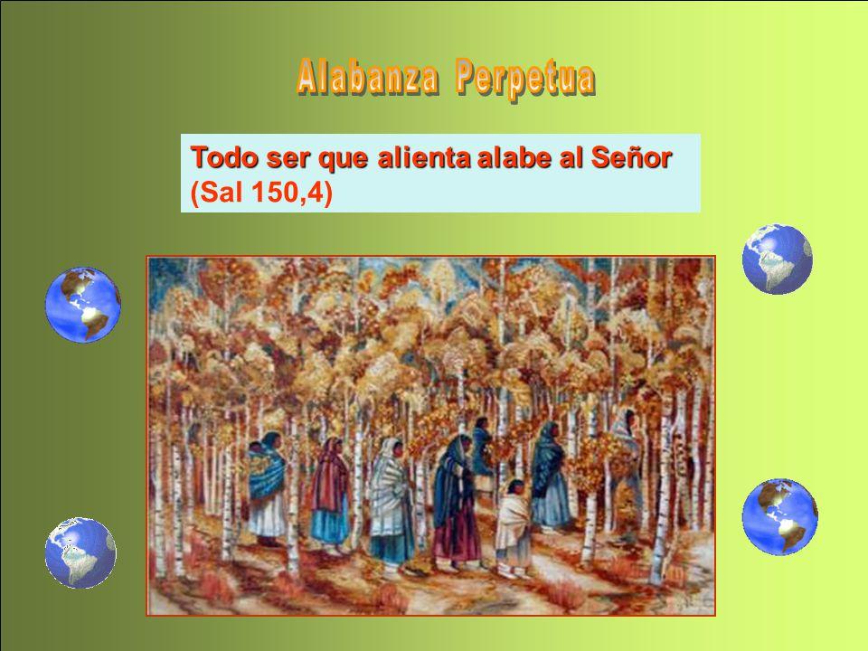 Alabadlo con tambores y danzas, alabadlo con trompas y flautas. Alabadlo con platillos sonoros, alabadlo con platillos vibrantes. (Sal 150 2-3). Alaba
