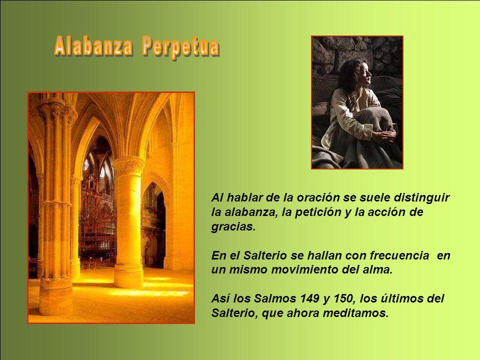 Al hablar de la oración se suele distinguir la alabanza, la petición y la acción de gracias.