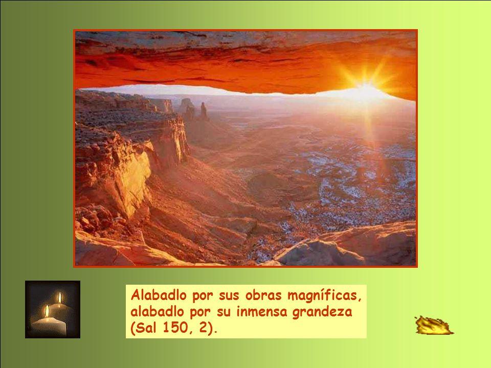 Alabadlo por sus obras magníficas, alabadlo por su inmensa grandeza (Sal 150, 2).