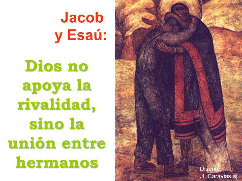 Dios no apoya la rivalidad, sino la unión entre hermanos Jacob y Esaú: Diseño: JL Caravias sj.