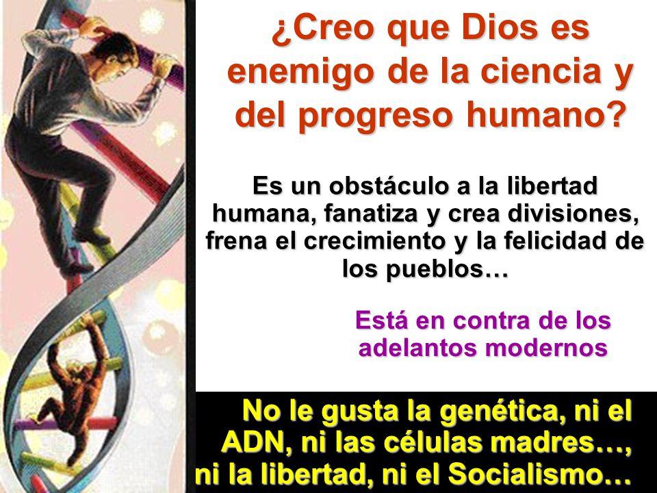 ¿Creo que Dios es enemigo de la ciencia y del progreso humano? Es un obstáculo a la libertad humana, fanatiza y crea divisiones, frena el crecimiento