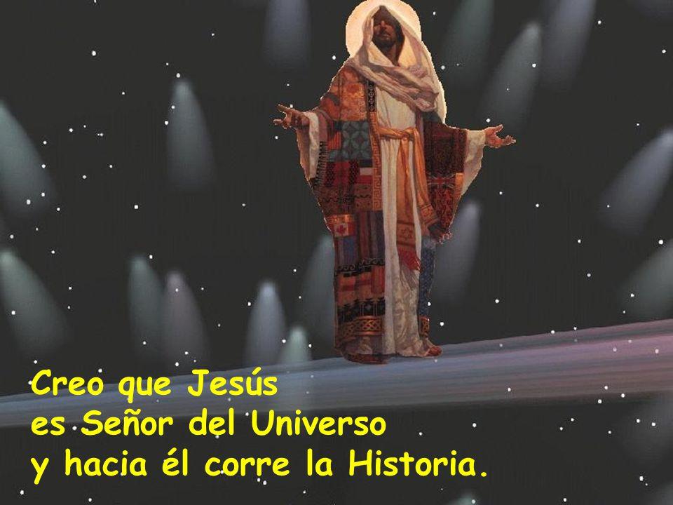 Creo que Jesús es Señor del Universo y hacia él corre la Historia.