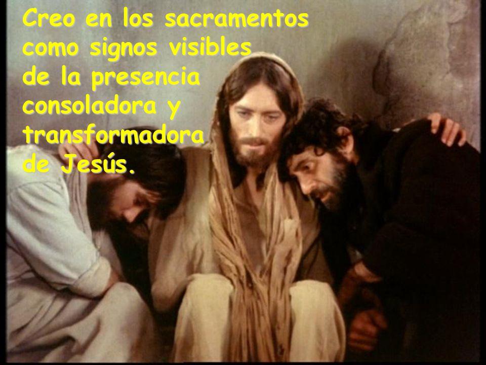 Creo en los sacramentos como signos visibles de la presencia consoladora y transformadora de Jesús.