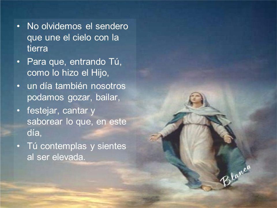 Subes, Santa María, para recibir el premio por tanta locura de amor Subes, Santa María, para ser coronada por el mismo Dios ¿Subes, María, o te suben?
