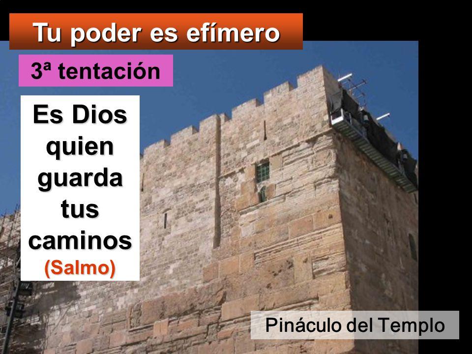 Entonces lo llevó a Jerusalén y lo puso en el alero del templo y le dijo: