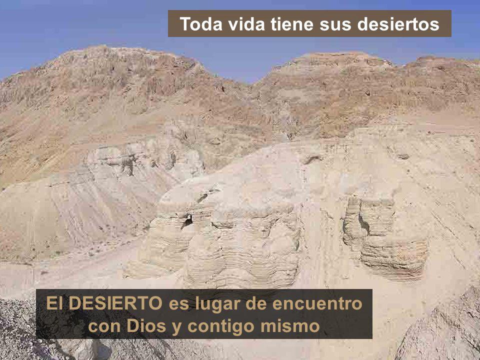 Toda vida tiene sus desiertos El DESIERTO es lugar de encuentro con Dios y contigo mismo