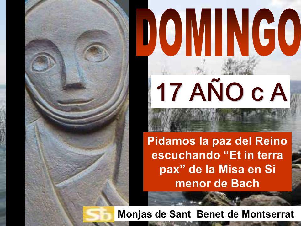 Pidamos la paz del Reino escuchando Et in terra pax de la Misa en Si menor de Bach Monjas de Sant Benet de Montserrat 17 AÑO c A