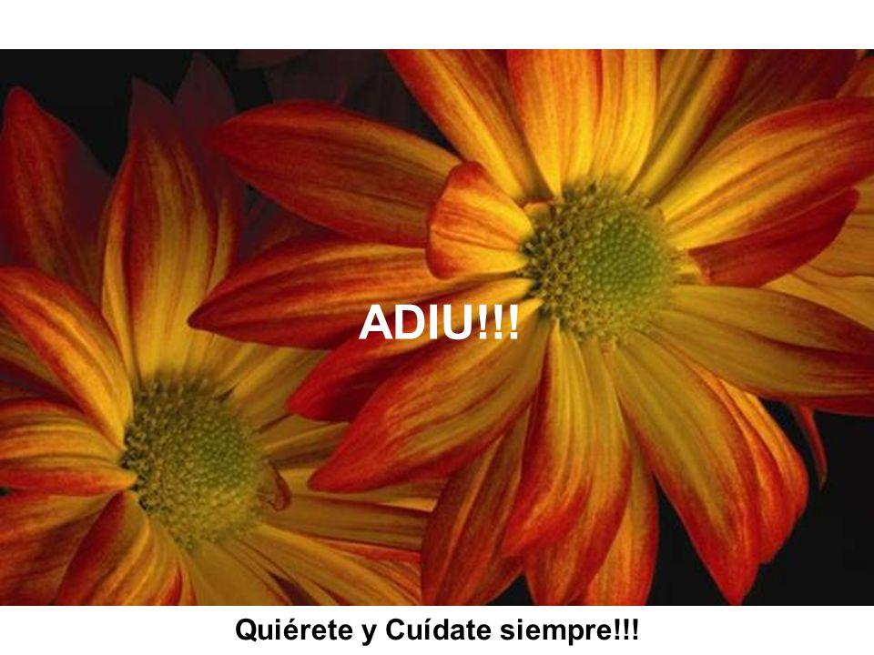 ADIU!!! Quiérete y Cuídate siempre!!!