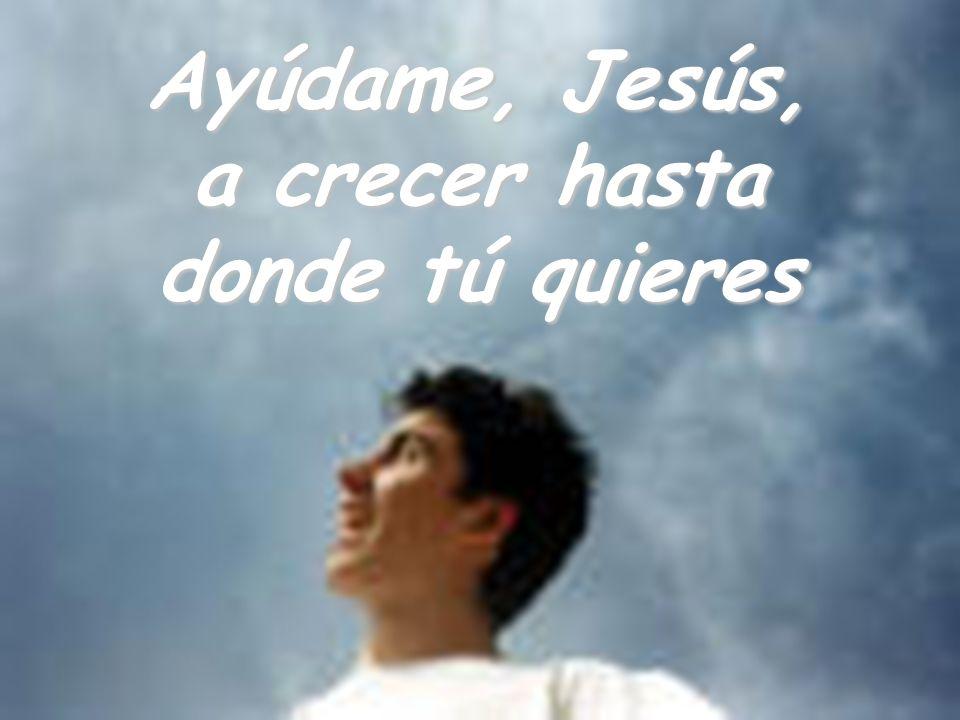 Ayúdame, Jesús, a crecer hasta donde tú quieres