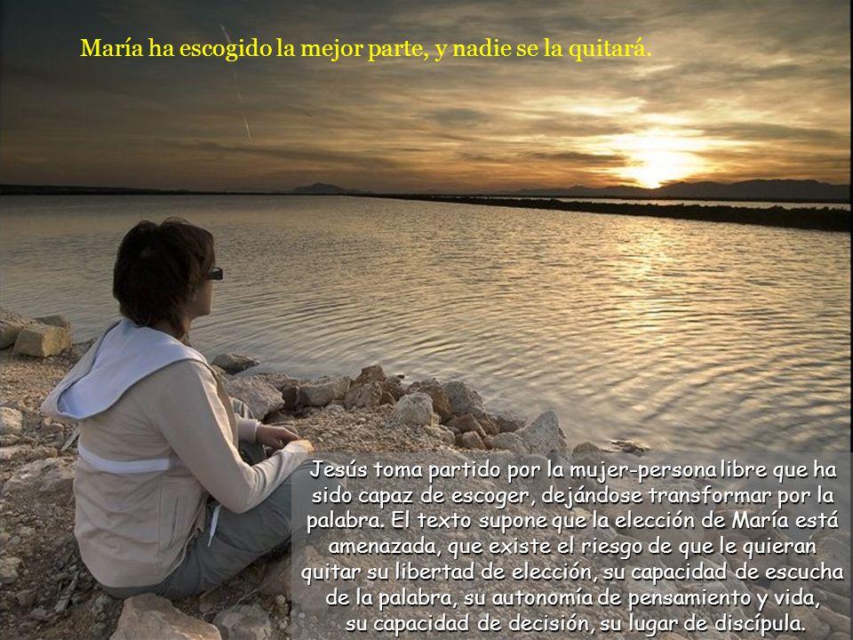 Pero el Señor le contestó: –Marta, Marta, andas inquieta y preocupada por muchas cosas, cuando en realidad una sola es necesaria. Jesús reprende a Mar