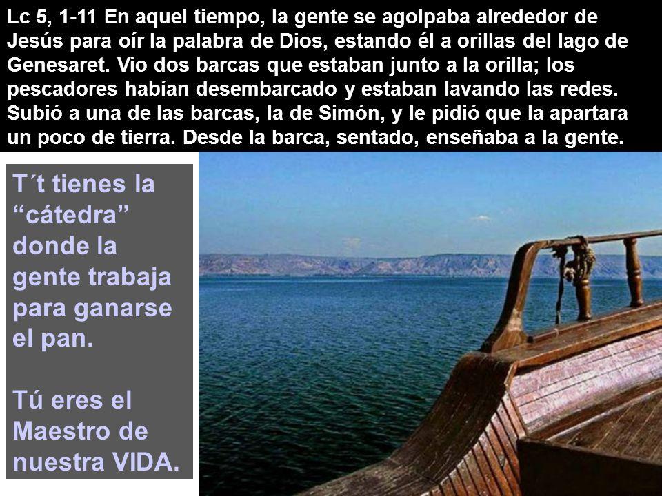 Lc 5, 1-11 En aquel tiempo, la gente se agolpaba alrededor de Jesús para oír la palabra de Dios, estando él a orillas del lago de Genesaret.