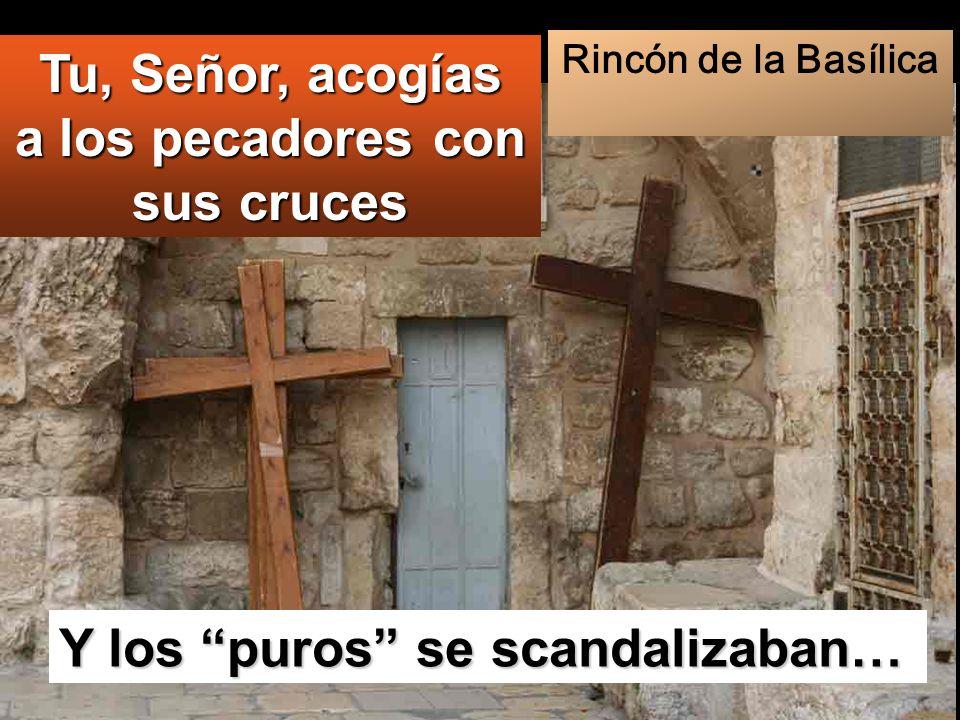 Y los puros se scandalizaban… Tu, Señor, acogías a los pecadores con sus cruces Rincón de la Basílica