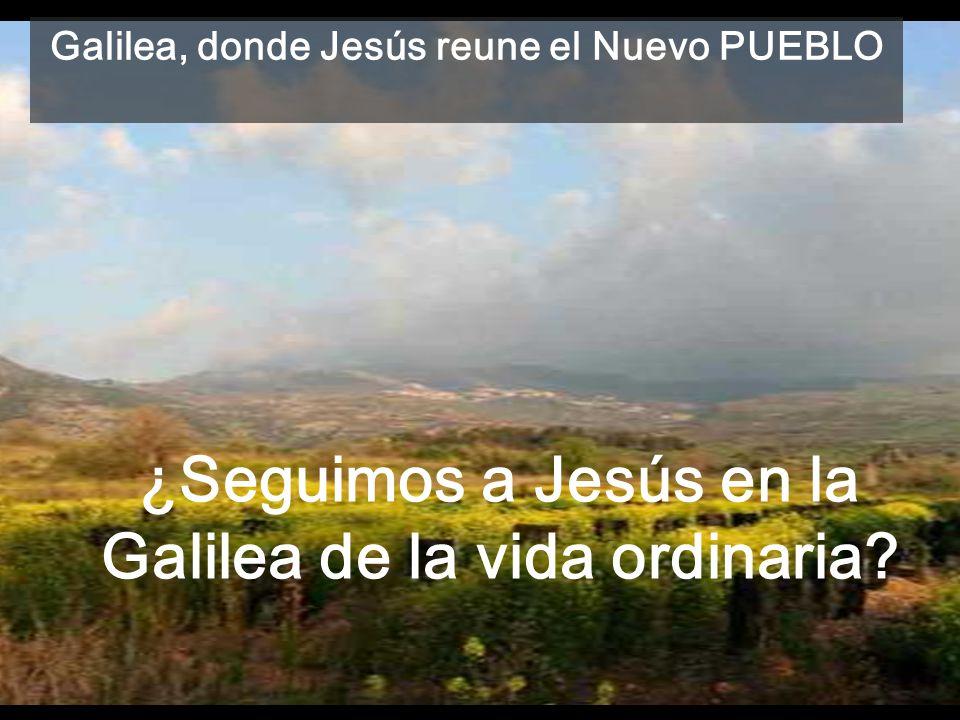 Después de inaugurar su ministerio, y de haber sido rechazado por los dirigentes judíos Lc 4,16 -5,11 Jesús convoca un Nuevo Pueblo, aglutinado por su