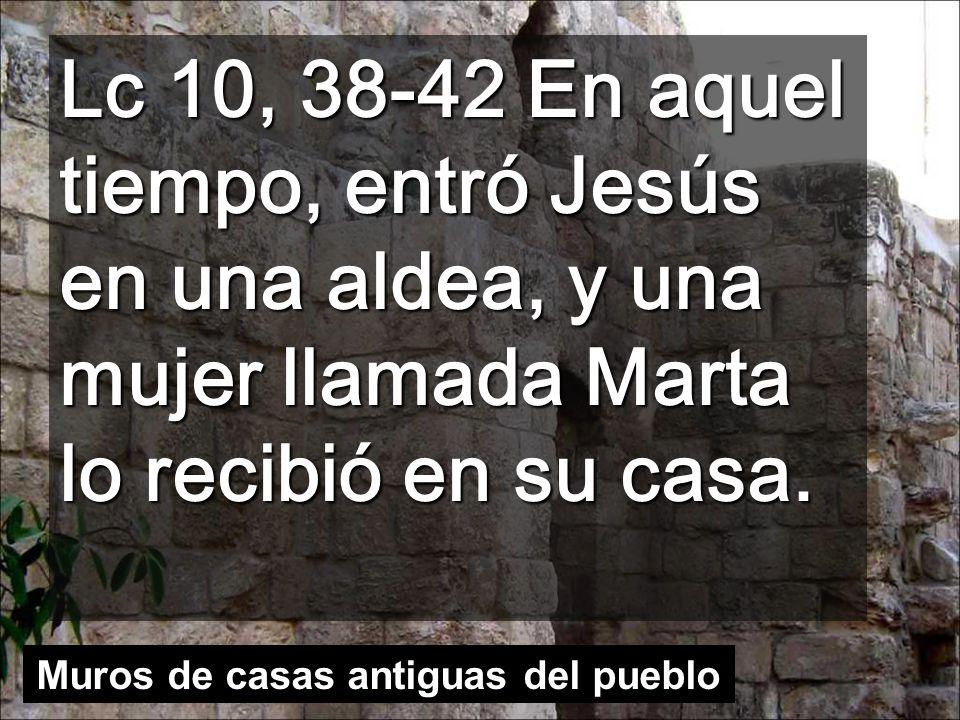 Lc 10, 38-42 En aquel tiempo, entró Jesús en una aldea, y una mujer llamada Marta lo recibió en su casa.