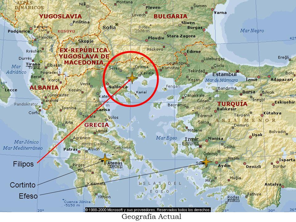 Primera visita de Pablo a Filipos (Hch.16:12-40): Durante su Segundo Viaje (Hech 15:36–18:22) Hch.16:12-40 Primera iglesia Europa No había muchos judíos No había sinagoga; se reunían afuera de la ciudad, río Gangites.