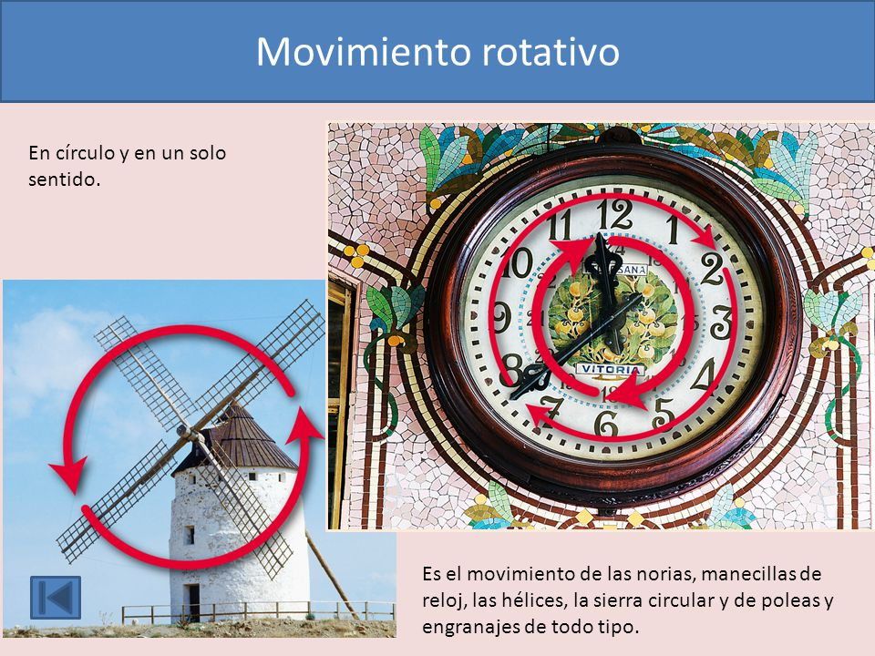 Avance y retroceso describiendo un arco de circunferencia.
