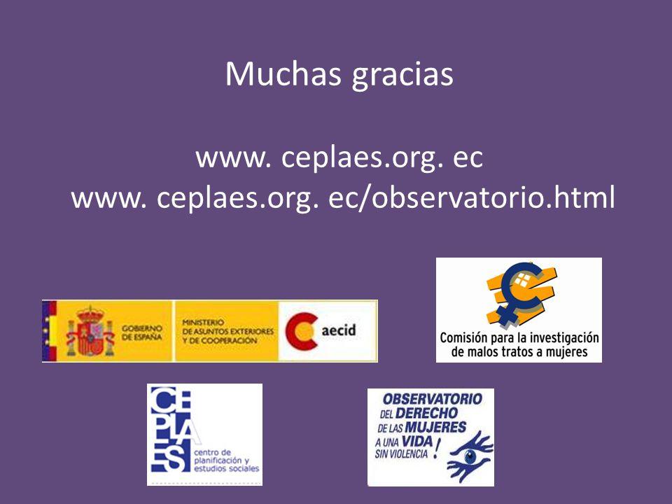 Muchas gracias www. ceplaes.org. ec www. ceplaes.org. ec/observatorio.html