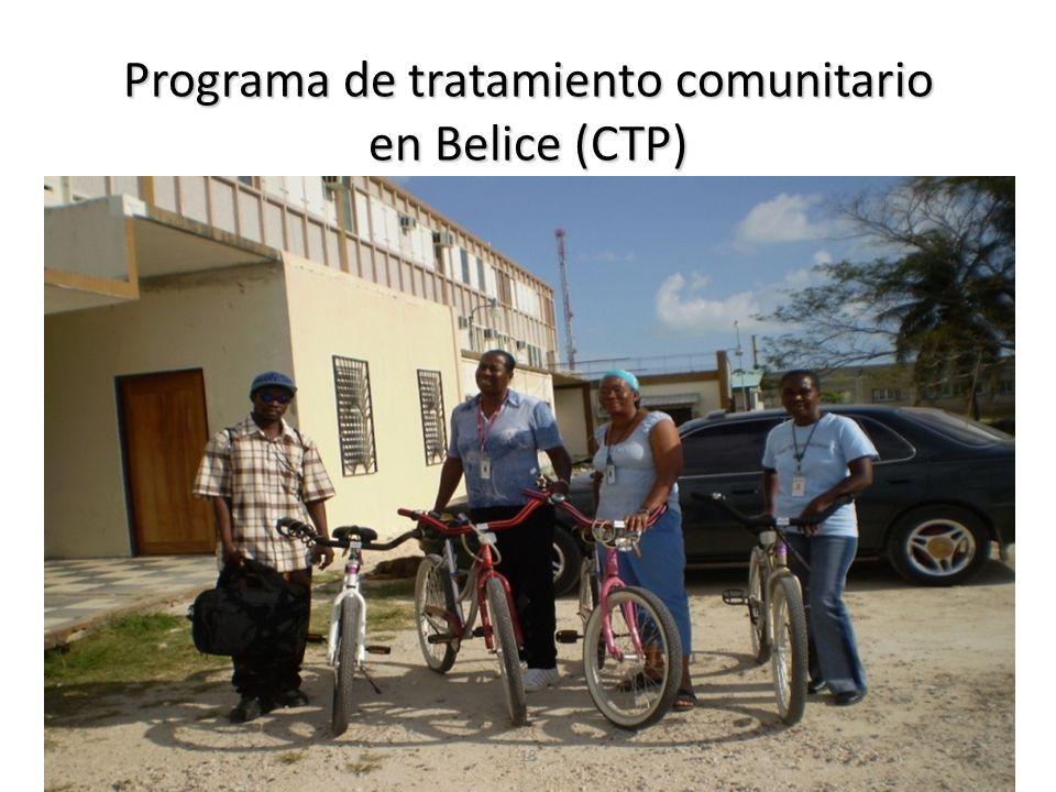 Programa de tratamiento comunitario en Belice (CTP) 18
