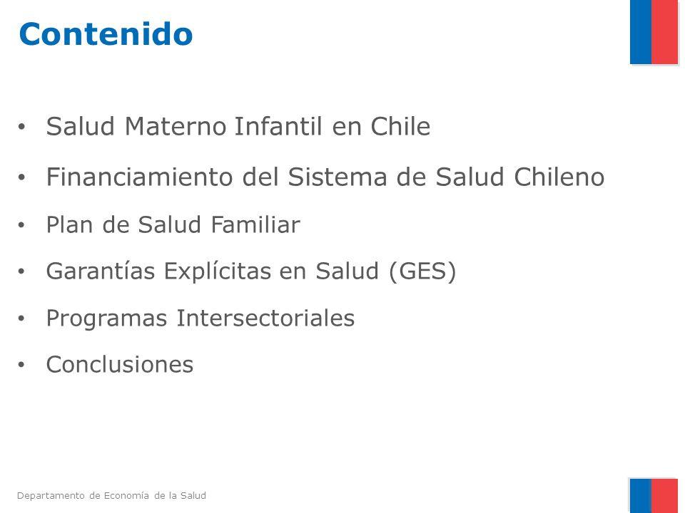 Departamento de Economía de la Salud Plan de Salud Familiar La Atención Primaria de Salud en Chile es mayoritariamente administrada por los municipios y su función principal desde 1995 es la provisión del Plan de Salud Familiar (PSF).