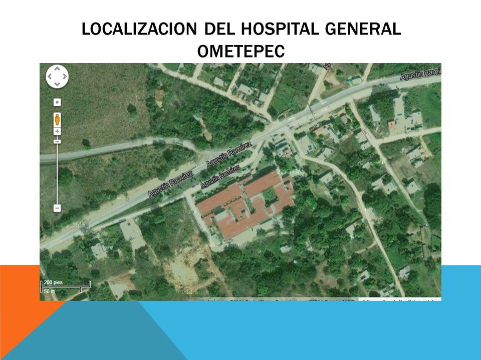 LOCALIZACION DEL HOSPITAL GENERAL OMETEPEC