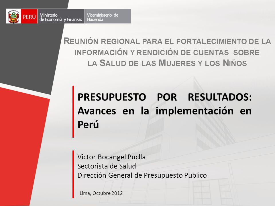 2007 Inicio de implementación del Presupuesto por Resultados, que busca reemplazar la asignación histórica de recursos del estado por una que persiga resultados en los ciudadanos.