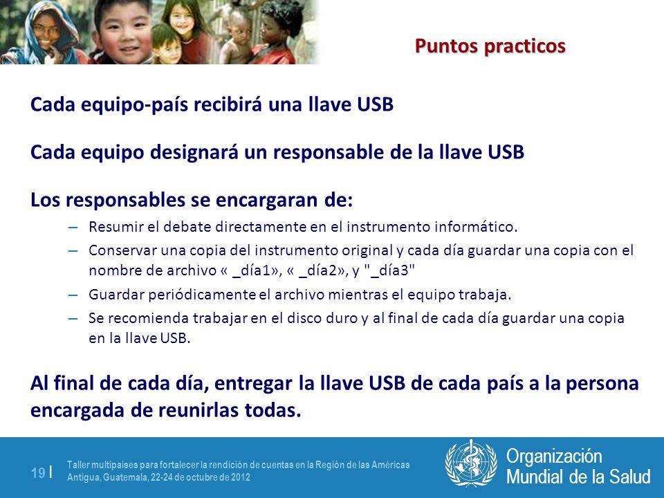 Taller multipaíses para fortalecer la rendición de cuentas en la Región de las Américas Antigua, Guatemala, 22-24 de octubre de 2012 19 | Mundial de l