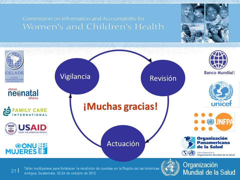 Taller multipaíses para fortalecer la rendición de cuentas en la Región de las Américas Antigua, Guatemala, 22-24 de octubre de 2012 21 | Mundial de la Salud Organización ¡Muchas gracias.