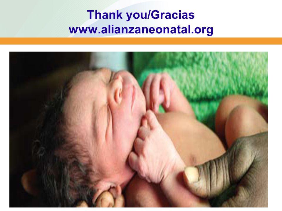 Thank you/Gracias www.alianzaneonatal.org