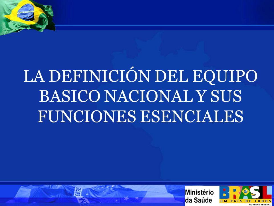 LA DEFINICIÓN DEL EQUIPO BASICO NACIONAL Y SUS FUNCIONES ESENCIALES
