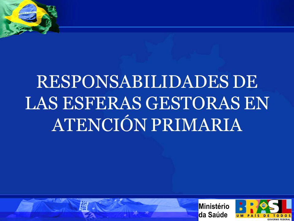RESPONSABILIDADES DE LAS ESFERAS GESTORAS EN ATENCIÓN PRIMARIA