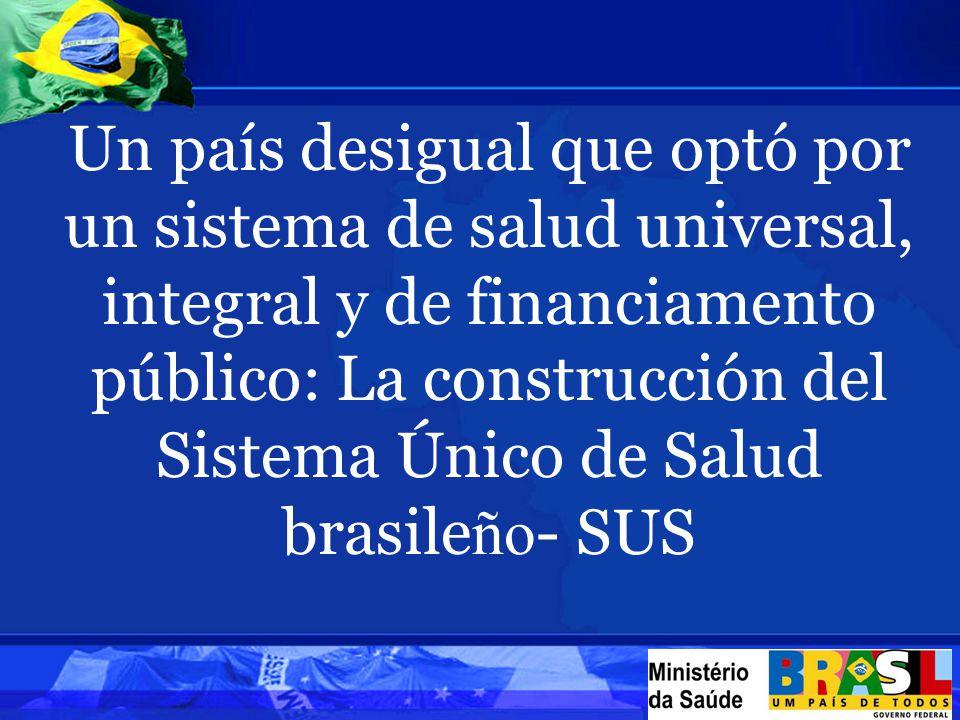 Un país desigual que optó por un sistema de salud universal, integral y de financiamento público: La construcción del Sistema Único de Salud brasile ño - SUS
