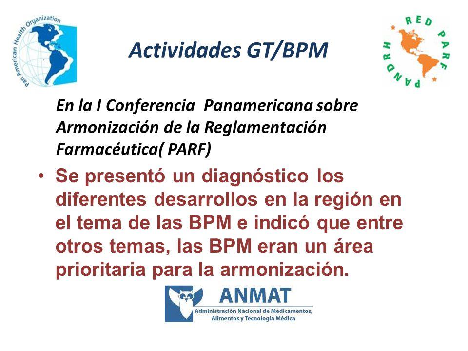 Se presentó un diagnóstico los diferentes desarrollos en la región en el tema de las BPM e indicó que entre otros temas, las BPM eran un área priorita